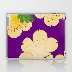 Purple Japanese Floral Vintage Pattern Laptop & iPad Skin