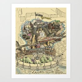 Know Your Way In and Around Diagon Alley {And Knockturn, Horizont Alleys} - Muggle Edition Art Print