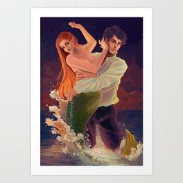 Ravaged Siren Art Print