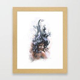 Sealady Framed Art Print