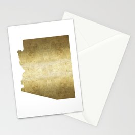 arizona gold foil state map Stationery Cards