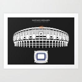 Santiago Bernabéu - Real Madrid Stadium  Art Print