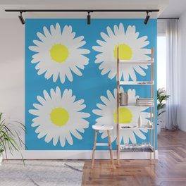 Blue Daisy Bouquet Wall Mural