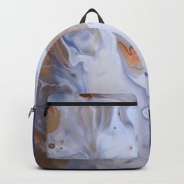 Blue Cloudy Fluid Abstract Art Backpack