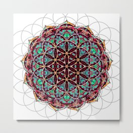 Flower of Life Mandala Metal Print