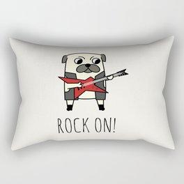 Rockstar Pug Rectangular Pillow