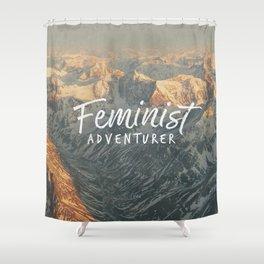 Feminist Adventurer Shower Curtain