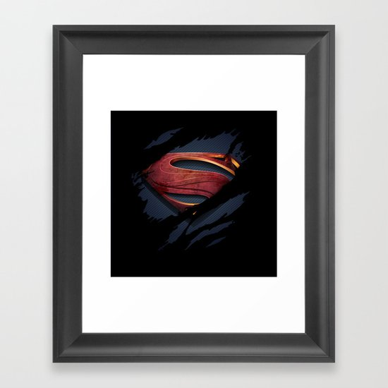Man of Steel Framed Art Print