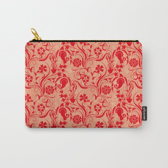 motif red flower 5 Carry-All Pouch