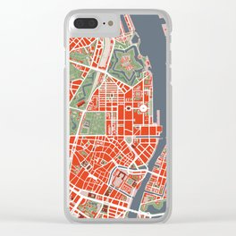 Copenhagen city map classic Clear iPhone Case