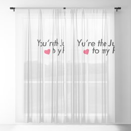 Jules and Rue Young Love Sheer Curtain