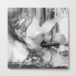 Isolation comes in black Metal Print