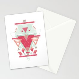Triangular Abyssal, pink edition Stationery Cards