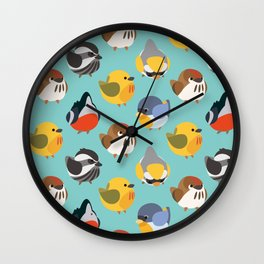 Warblers Pattern Wall Clock