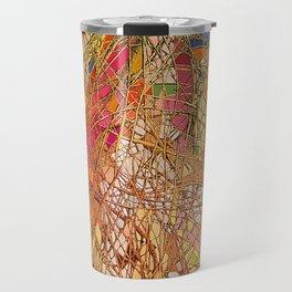 Gold light interlacing straw Travel Mug