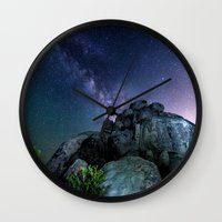 30 rock Wall Clocks featuring Milky Way Rock by 2sweet4words Designs