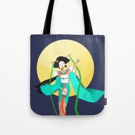 Japanese Geisha and the Moon Tote Bag