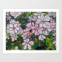Blushing Blossoms Art Print