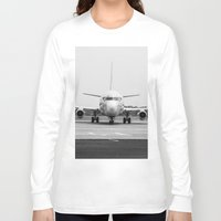 airplane Long Sleeve T-shirts featuring Airplane  by Gustavo Aragundi