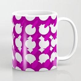 elipse grid pattern_magenta Coffee Mug