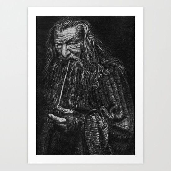 Gandalf the grey Art Print
