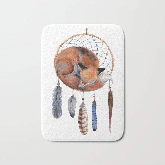 Fox Dreamcatcher Bath Mat