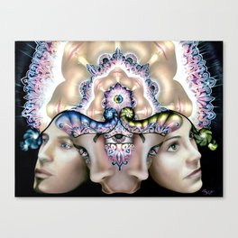 Twin Flames Dancing (with digital POP) Canvas Print