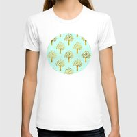 gold foil T-shirts featuring Mint Gold Foil 02 by Aloke Design