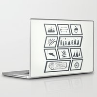 camping Laptop & iPad Skins featuring Camping by Corina Rivera Designs