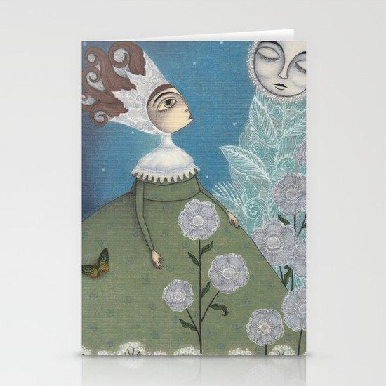 Soon, soon, Winter Moon! Stationery Cards