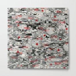 The Flaw Advantage (P/D3 Glitch Collage Studies) Metal Print