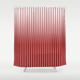 Red Variegated Reverse Stripe Vertical Shower Curtain