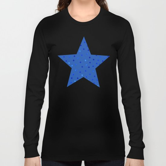 Unique Blue Polka Dots Pattern Long Sleeve T-shirt
