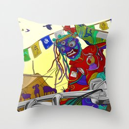 Beauty Of Ladakh Throw Pillow