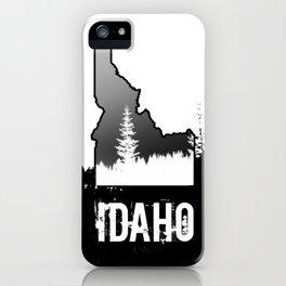 Idaho: Black & White iPhone Case