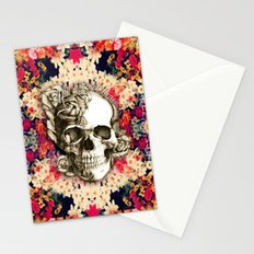 You are not here Day of the Dead Rose Skull. Stationery Cards