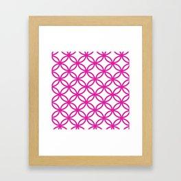 Interlocking Pink Framed Art Print