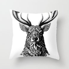 Ornate Buck Throw Pillow