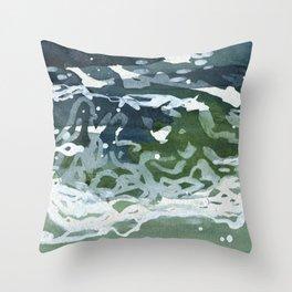 Waves 3 Throw Pillow