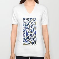 cracked V-neck T-shirts featuring Cracked by Lachlan Willis