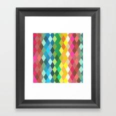 Diamond Color Spectrum Pattern Framed Art Print