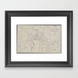 Vintage Map of Princeton NJ (1915) Framed Art Print