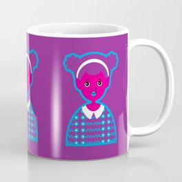 Girl 22 Pink and Purple Alien Coffee Mug