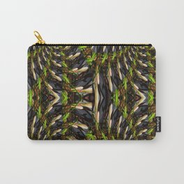 White Bud Pattern Carry-All Pouch