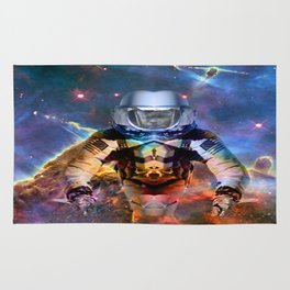 Astronaut Disintegration Rug
