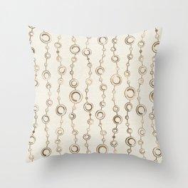 Enso Circle - Zen pattern pastel gold Throw Pillow