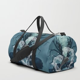 Dolphin jumpung by a heart made of water Duffle Bag