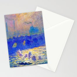 Claude Monet Waterloo Bridge Stationery Cards
