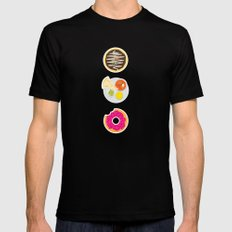 3 Food Staples MEDIUM Black Mens Fitted Tee