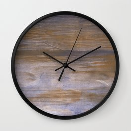 Brown blue blurred Wall Clock